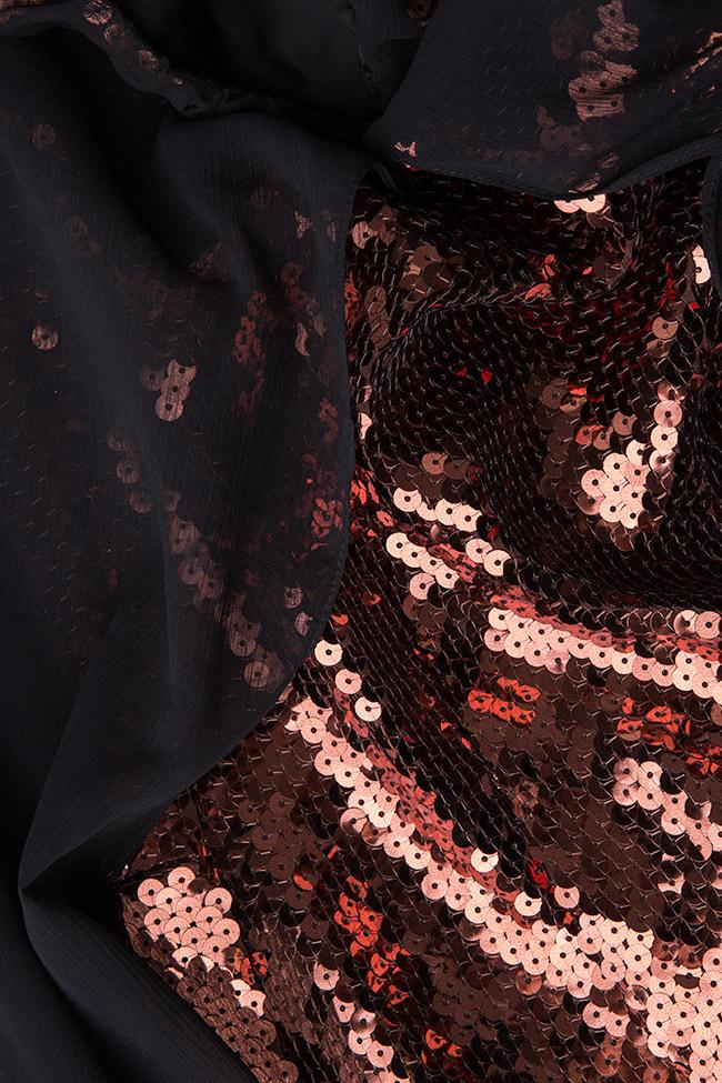 Rochie din paiete cu suprapunere din voal DANA Dorin Negrau imagine 3