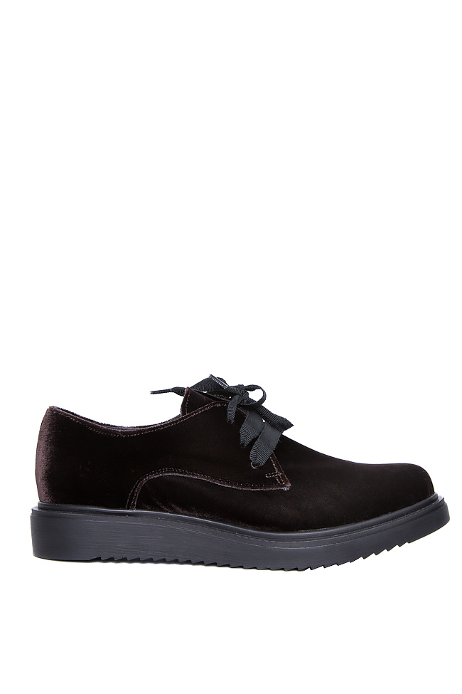 Pantofi din catifea Mihaela Gheorghe imagine 0
