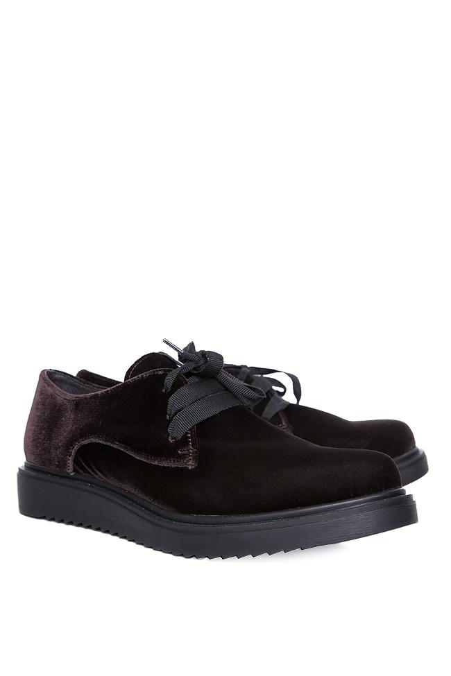 Pantofi din catifea Mihaela Gheorghe imagine 1