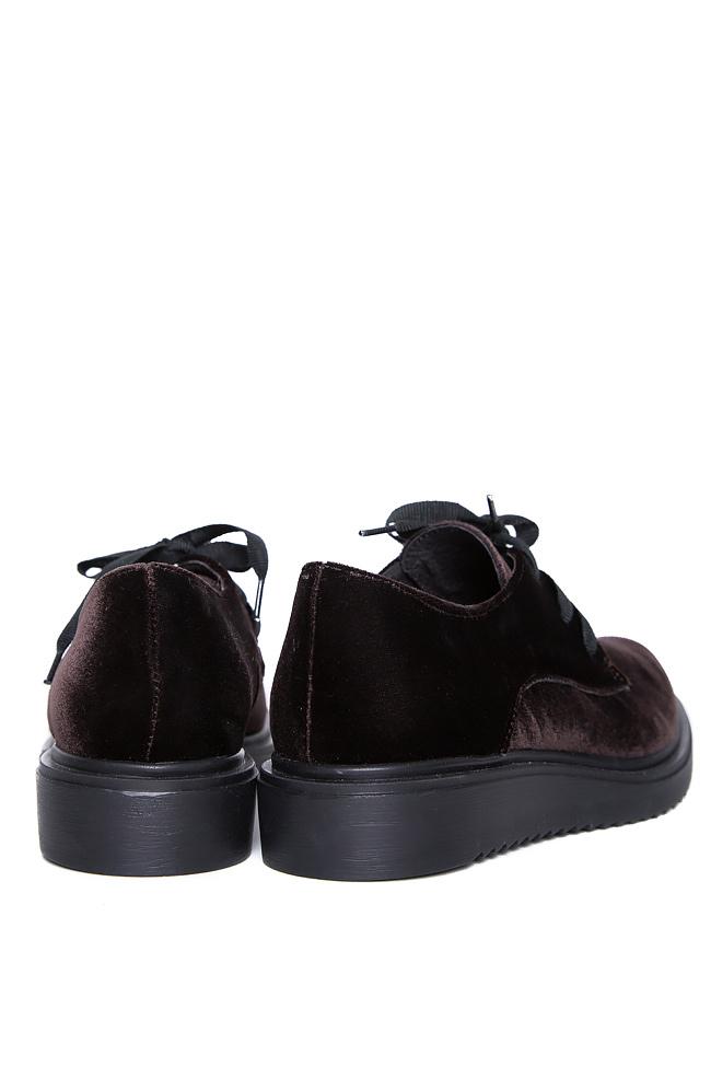 Pantofi din catifea Mihaela Gheorghe imagine 2