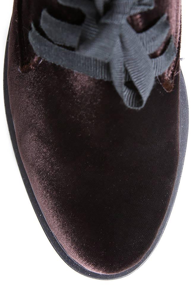Pantofi din catifea Mihaela Gheorghe imagine 3