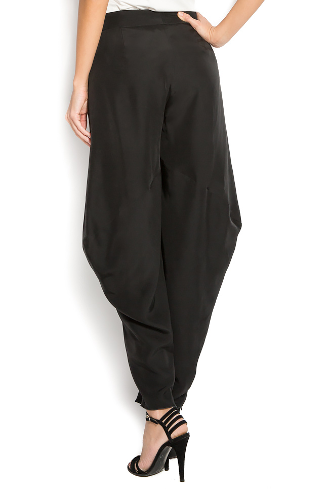 Pantaloni din crep  Lena Criveanu imagine 2