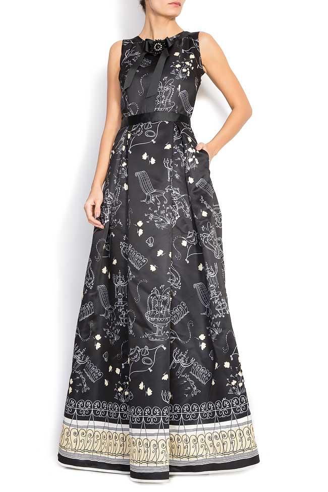 7e546f6edd12 Printed duchess-satin gown - Maxi Dresses made to measure