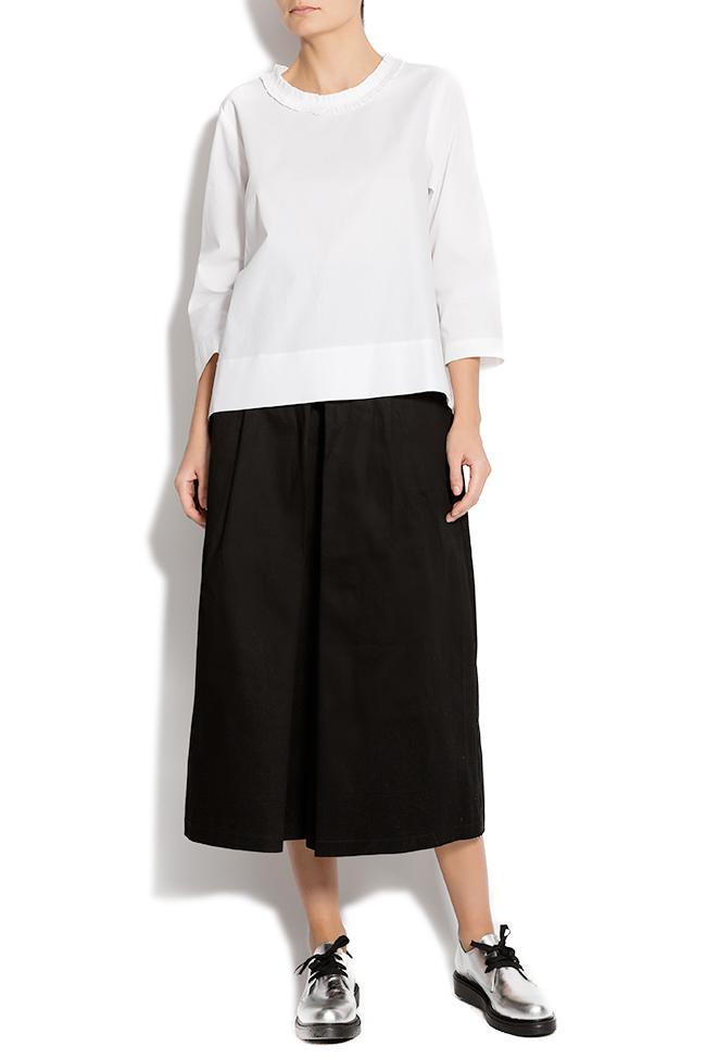 Bluza din bumbac cu maneci trei sferturi Lena Criveanu imagine 0