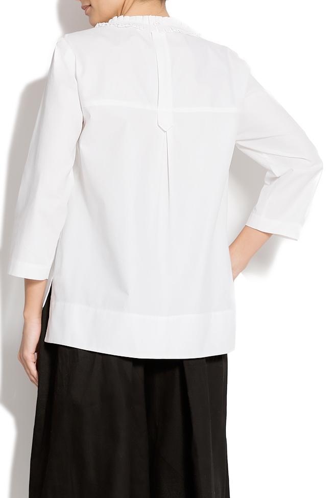 Bluza din bumbac cu maneci trei sferturi Lena Criveanu imagine 2