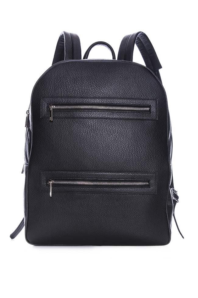 Textured-leather backpack Laura Olaru image 0
