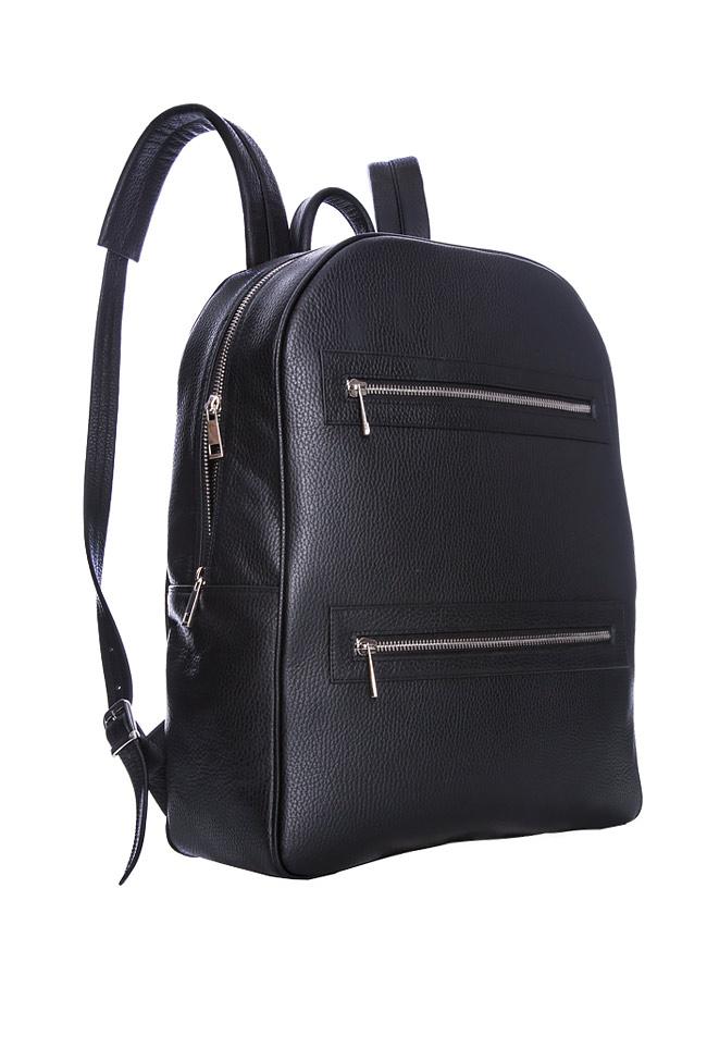 Textured-leather backpack Laura Olaru image 1