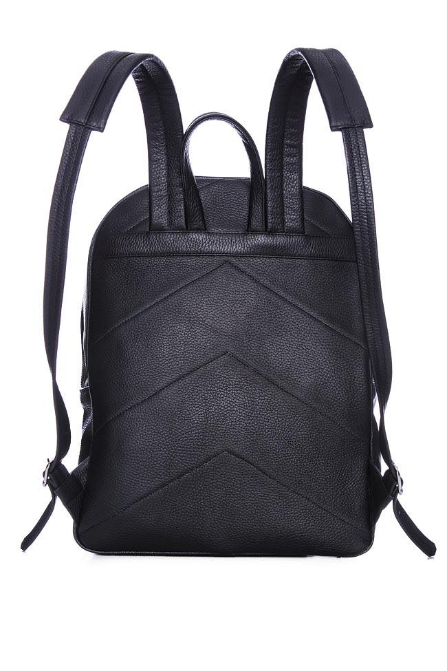 Textured-leather backpack Laura Olaru image 2