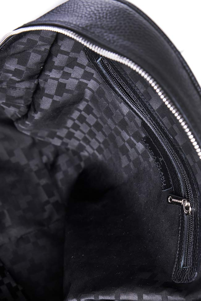 Textured-leather backpack Laura Olaru image 3