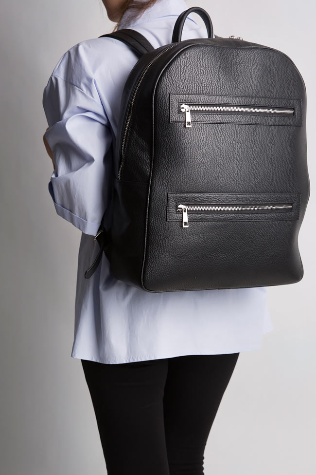 Textured-leather backpack Laura Olaru image 4