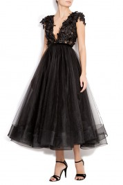 Antoanelle Embellished tulle gown