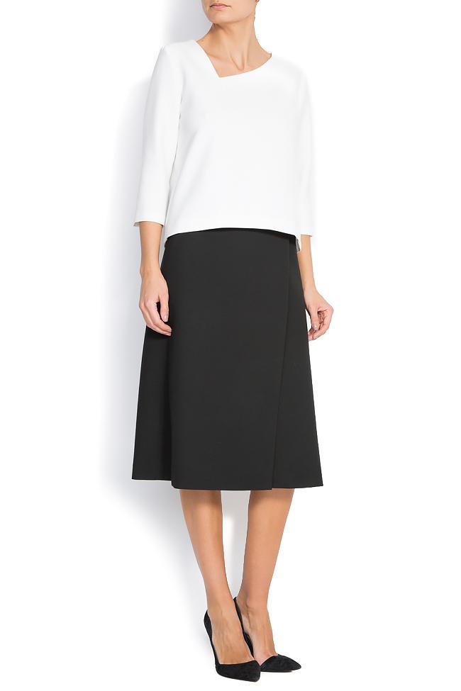 Wrap-effect cotton-blend skirt Claudia Castrase image 0
