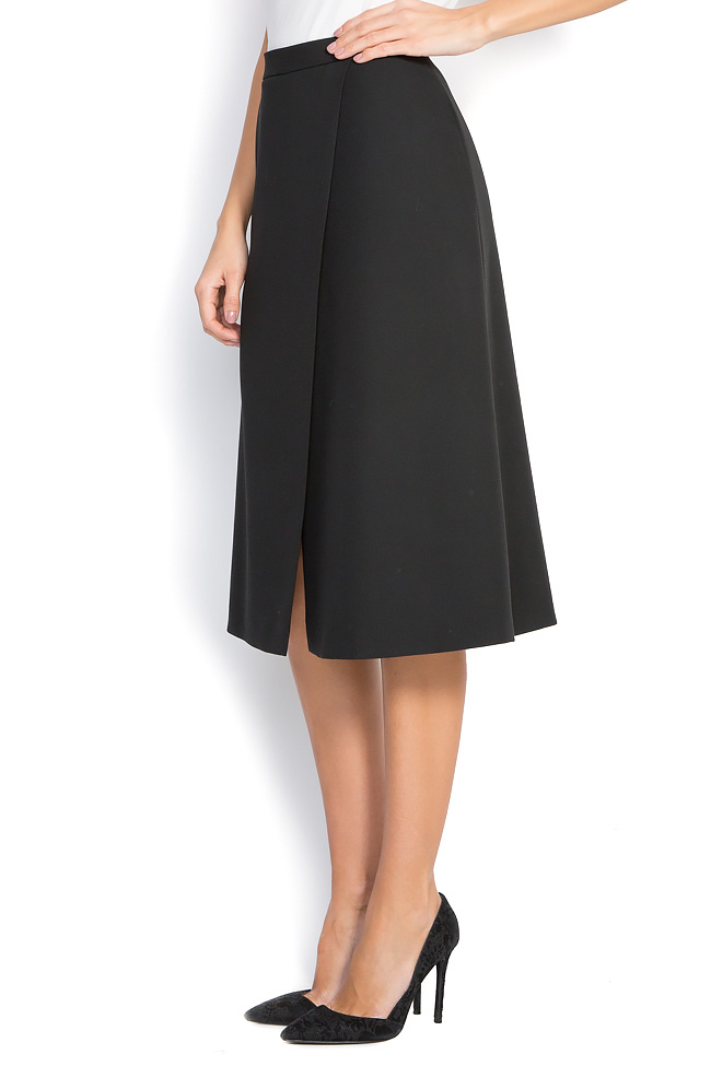 Wrap-effect cotton-blend skirt Claudia Castrase image 1
