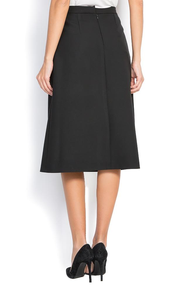 Wrap-effect cotton-blend skirt Claudia Castrase image 2