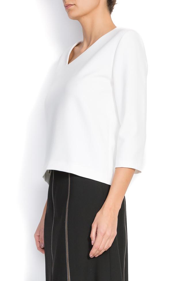 Bluza din amestec de bumbac cu decolteu asimetric Claudia Castrase imagine 1