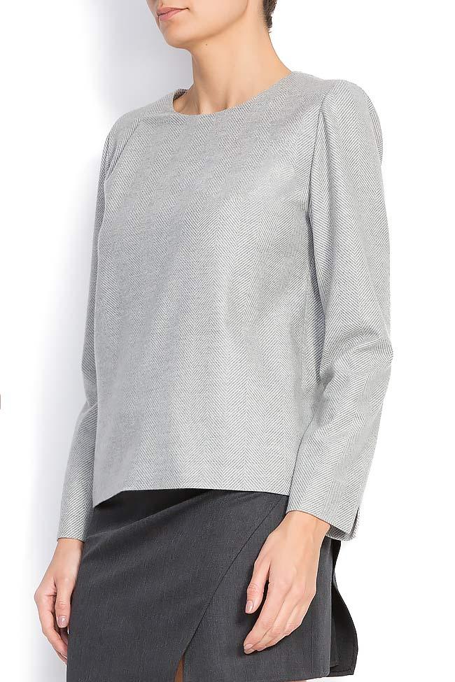 Bluza din amestec de lana Claudia Castrase imagine 1