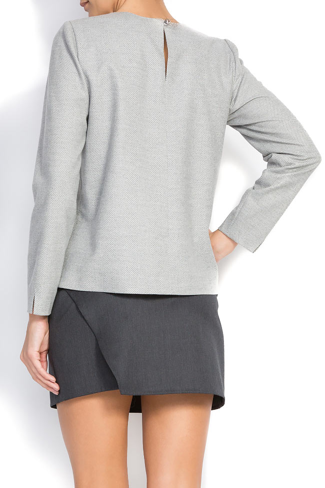 Bluza din amestec de lana Claudia Castrase imagine 2