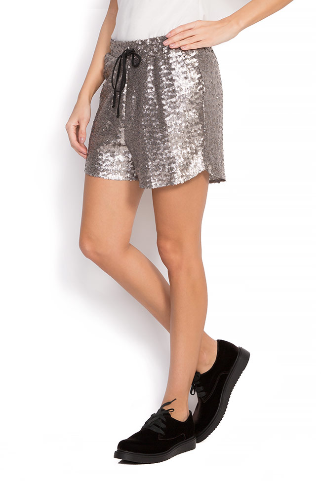 Glittered sequins shorts Shakara image 1