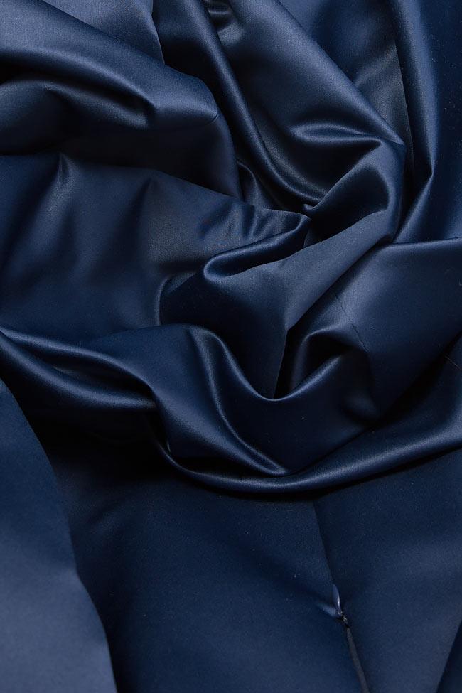 Rochie din tafta cu slit pe picior si cordon in talie Claudia Castrase imagine 4