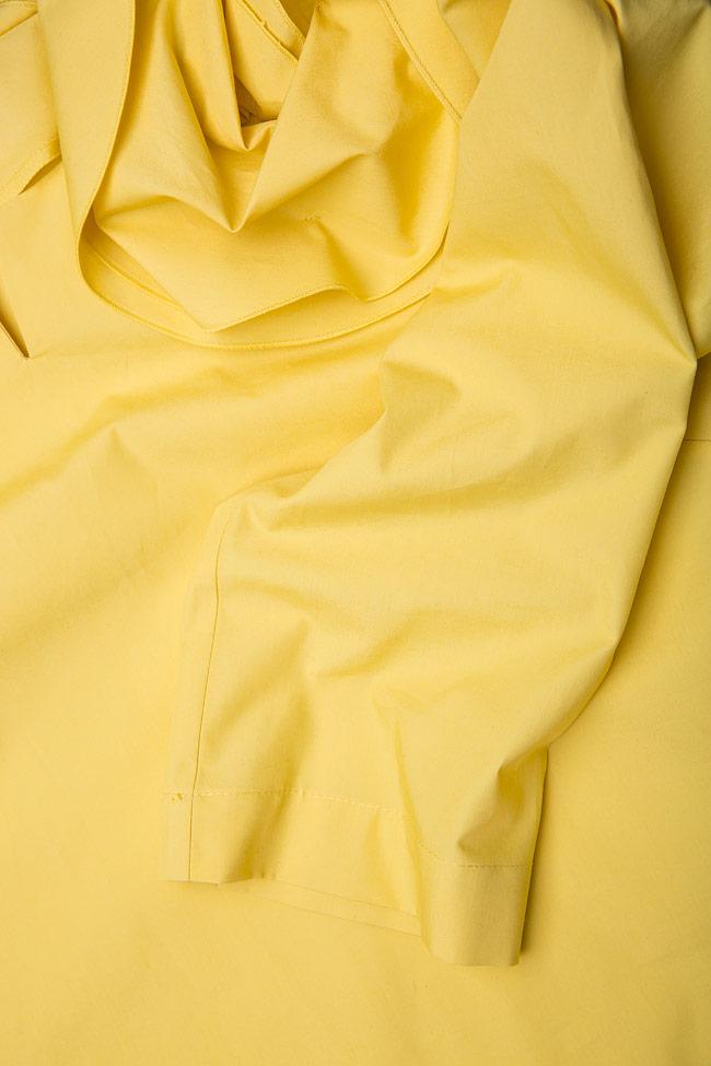 Bluza din bumbac cu volane  Lena Criveanu imagine 3