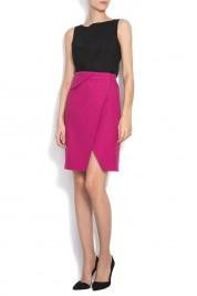 Framboise Monsoon wrap-effect cotton skirt