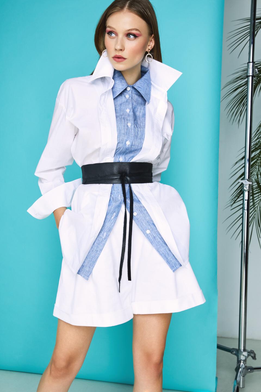 Jet cotton-poplin shirt  Framboise image 4