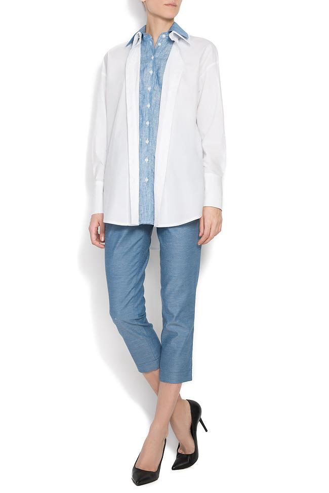 Jet cotton-poplin shirt  Framboise image 0