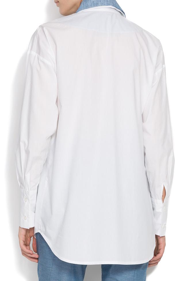 Jet cotton-poplin shirt  Framboise image 2