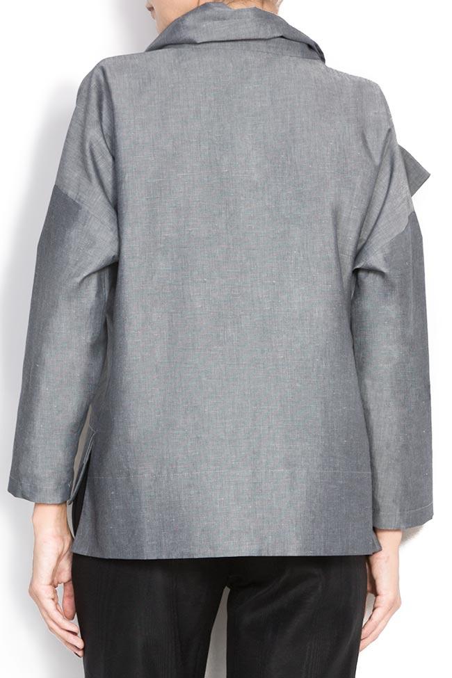 Bluza din bumbac cu esarfa  Lena Criveanu imagine 2