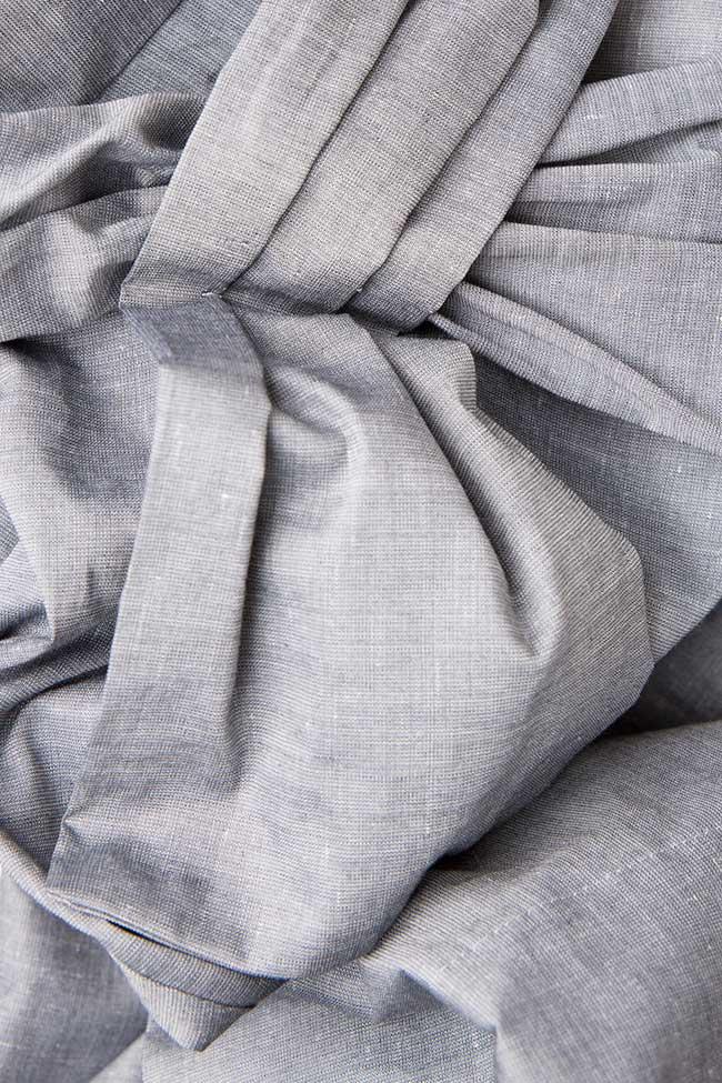 Bluza din bumbac cu esarfa  Lena Criveanu imagine 3