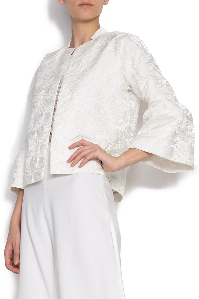 Brocade jacket with bell sleeves DALB by Mihaela Dulgheru image 1