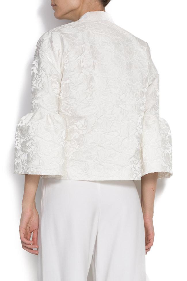 Brocade jacket with bell sleeves DALB by Mihaela Dulgheru image 2