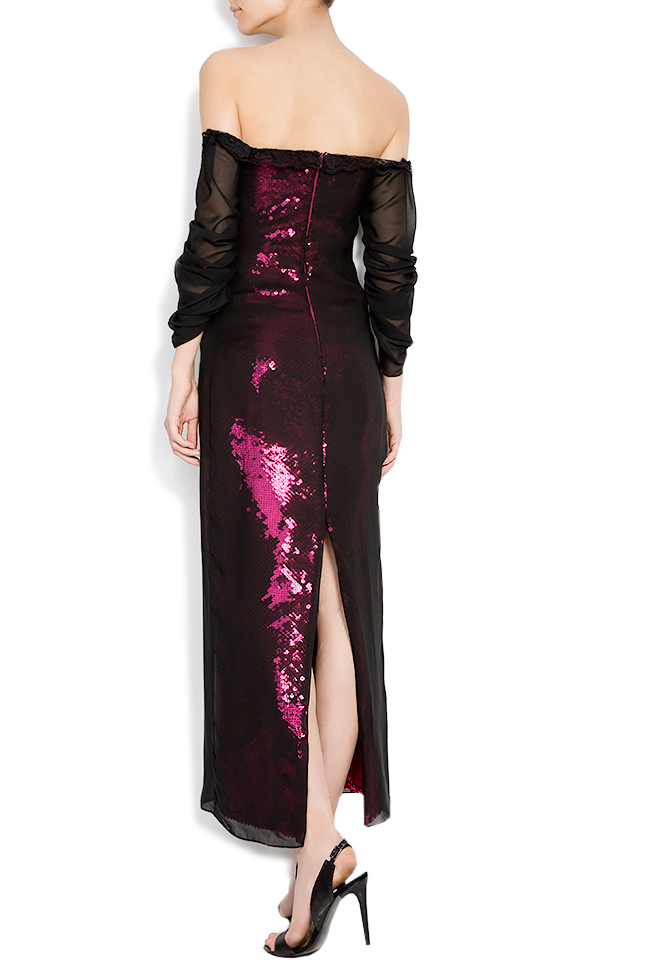 Barbara sequin dress with veil overlay Dorin Negrau image 2