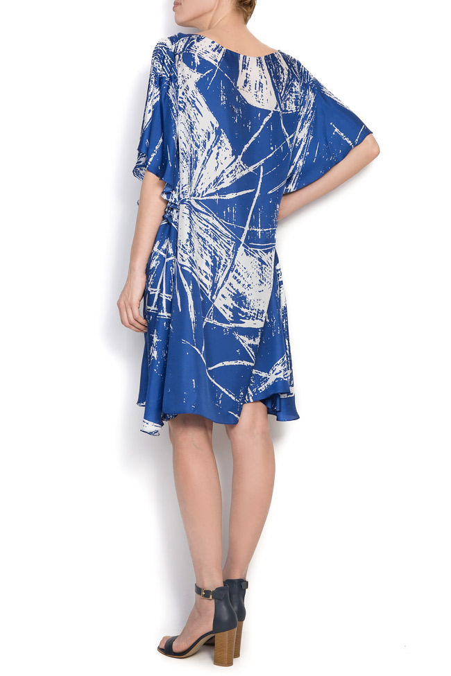 Deep blue printed silk Argo by Andreea Buga image 2