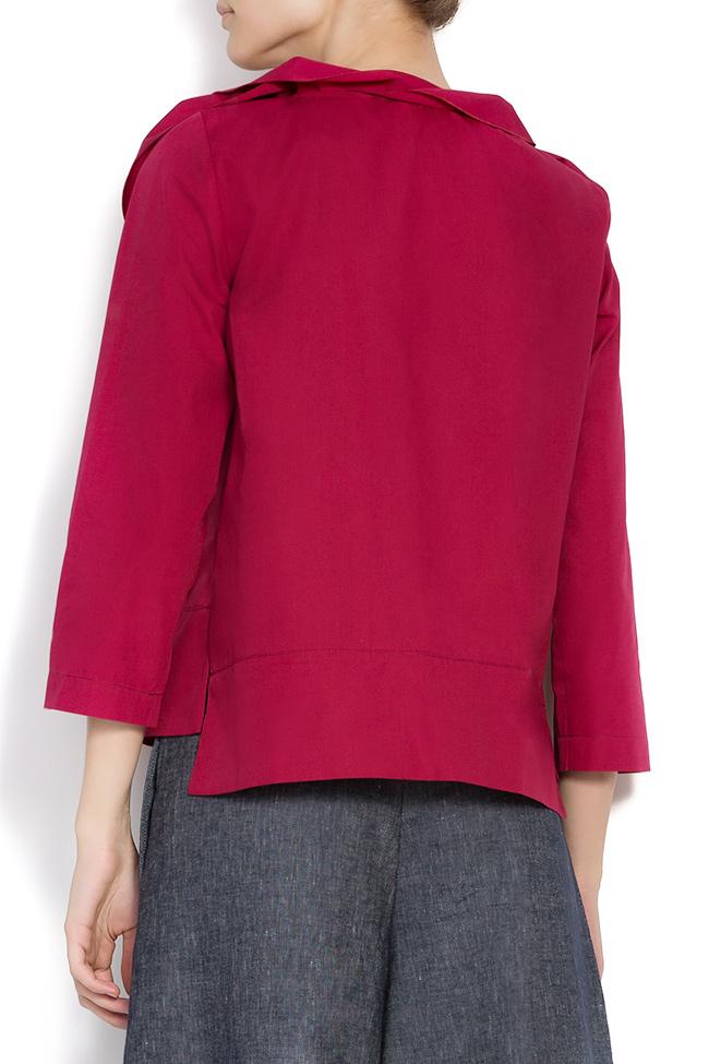 Bluza din bumbac cu volane  Lena Criveanu imagine 2