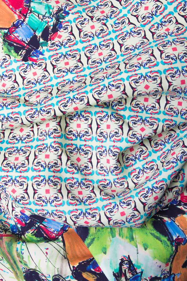 Rochie mini din bambus imprimat CARUSEL SPIN Argo by Andreea Buga imagine 3