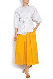 BLUZAT Pleated cotton culottes