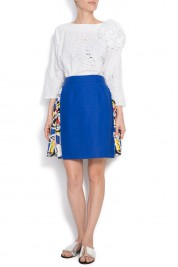 Argo by Andreea Buga Rising blue skirt silk mini skirt