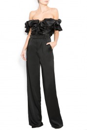 Atelier Jaisse Cotton satin wide-leg pants