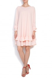 B.A.D. Style by Adriana Barar Crepe ruffled mini dress