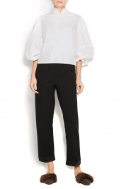 Atelier Jaisse Cotton shirt with oversized sleeves