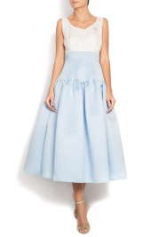 Alexandru Raicu Embellished silk taffeta dress
