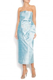 Alexandru Raicu Silk shantung embellished dress