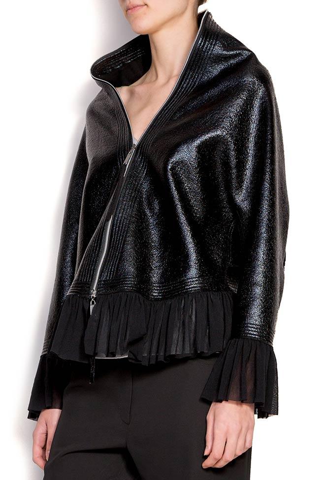 Jacheta din bumbac peliculizat cu volan Edita Lupea imagine 1