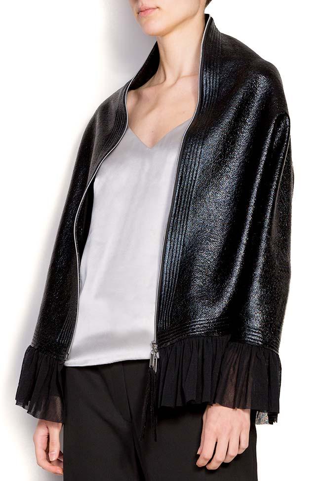 Jacheta din bumbac peliculizat cu volan Edita Lupea imagine 2