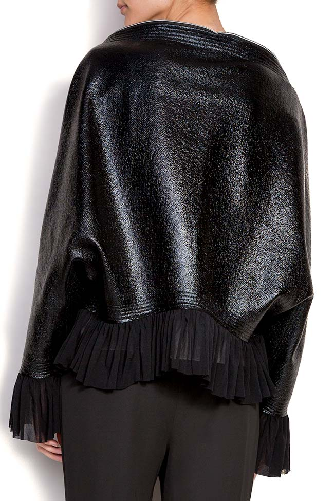 Jacheta din bumbac peliculizat cu volan Edita Lupea imagine 3