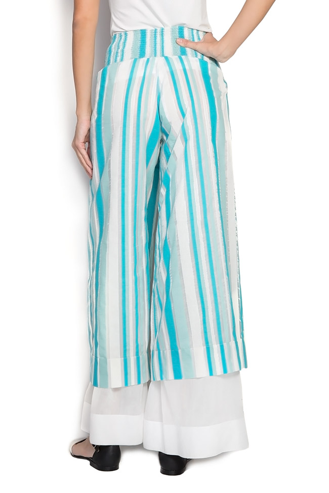 Cotton blend culottes pants Edita Lupea image 2