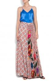 Dorin Negrau Floral-print satin wide-leg pants LAURA