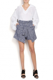 Framboise Cotton-blend bouclé shorts