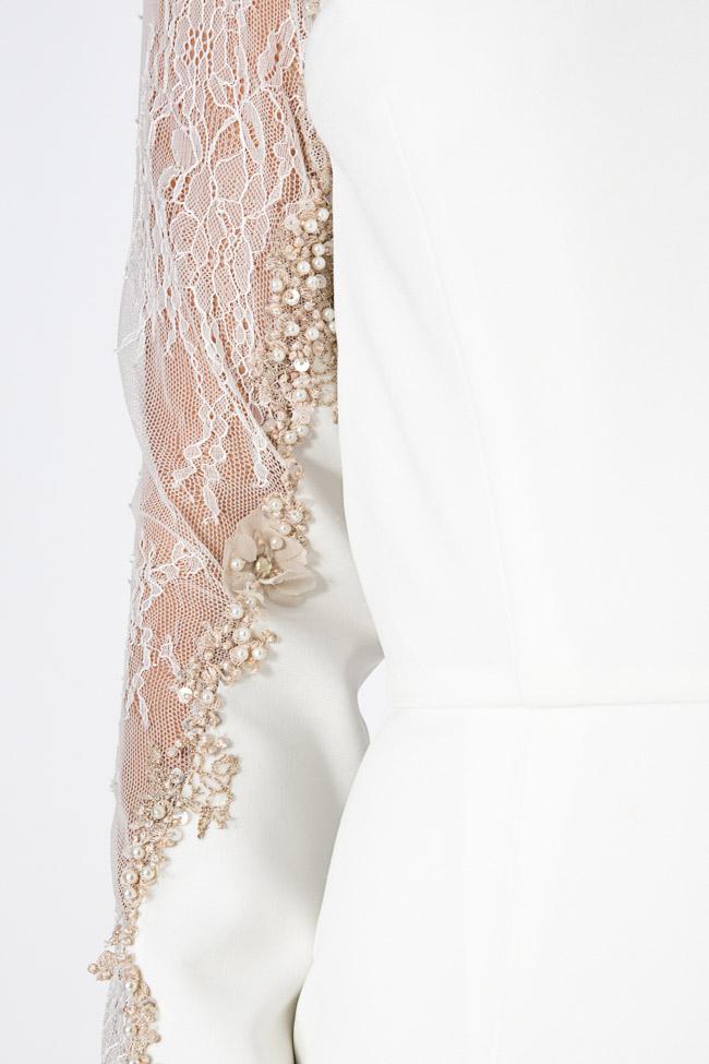 Rochie din crep si cristale brodata manual Nicole Enea imagine 3